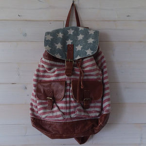 ✖2/$20 AMERICAN FLAG backpack